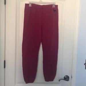 Rise pink sweat pants